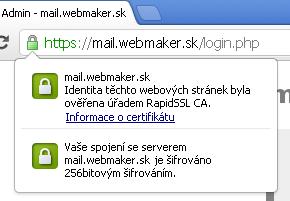 SSL certifikát WebMaker